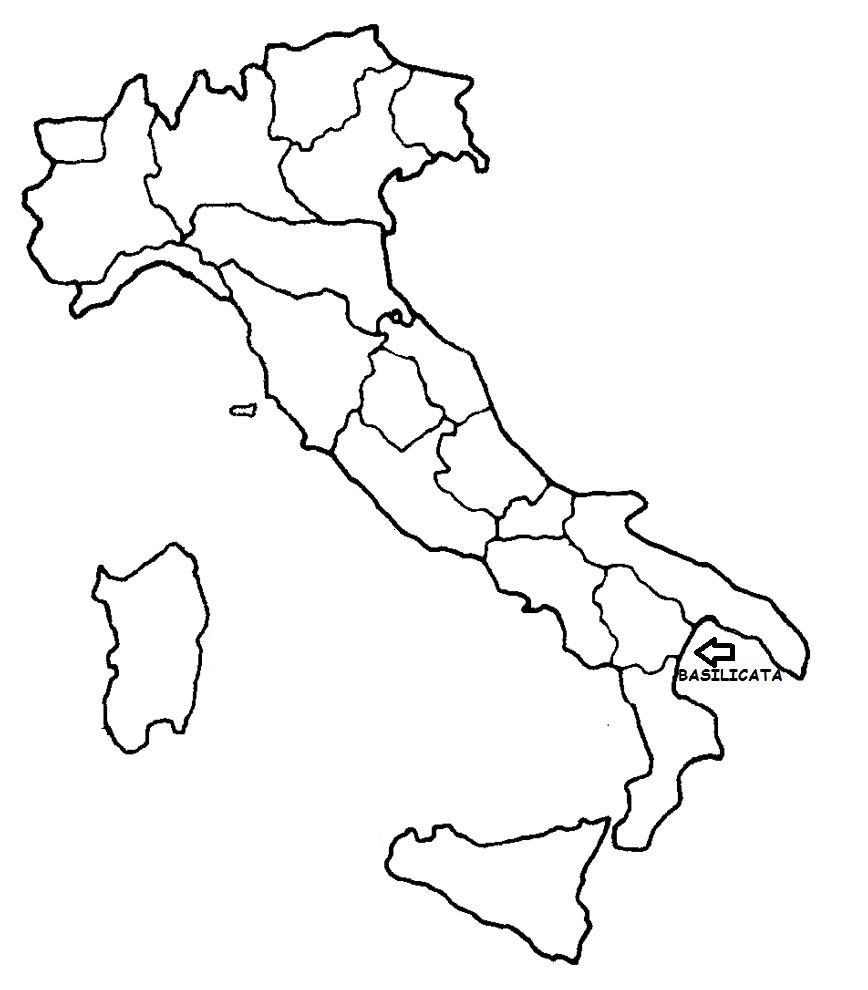 Cartina Basilicata.Basilicata Cartina Politica Italia Con Singola Regione Evidenziata Blog Di Maestra Mile