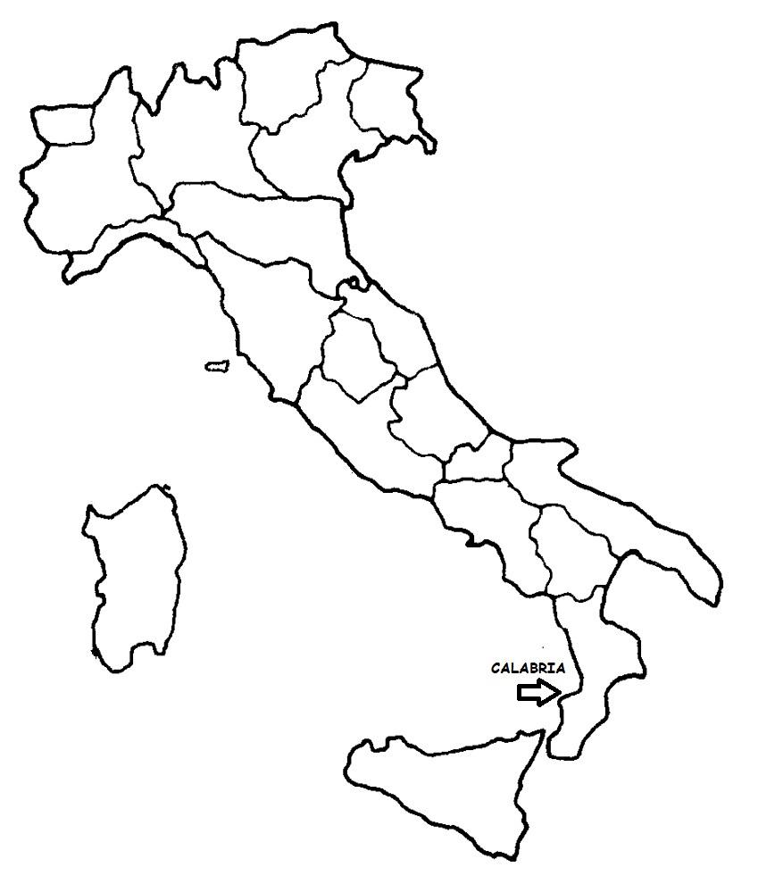 Regione Calabria Cartina Politica.Calabria Cartina Politica Italia Con Singola Regione Evidenziata Blog Di Maestra Mile