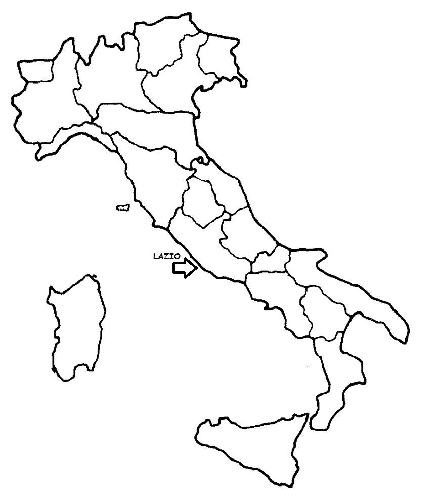 Cartina Lazio Politica.Lazio Cartina Politica Italia Con Singola Regione Evidenziata