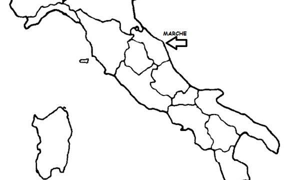 Marche Cartina Politica.Marche Cartina Politica Italia Con Singola Regione Evidenziata Archives Blog Di Maestra Mile