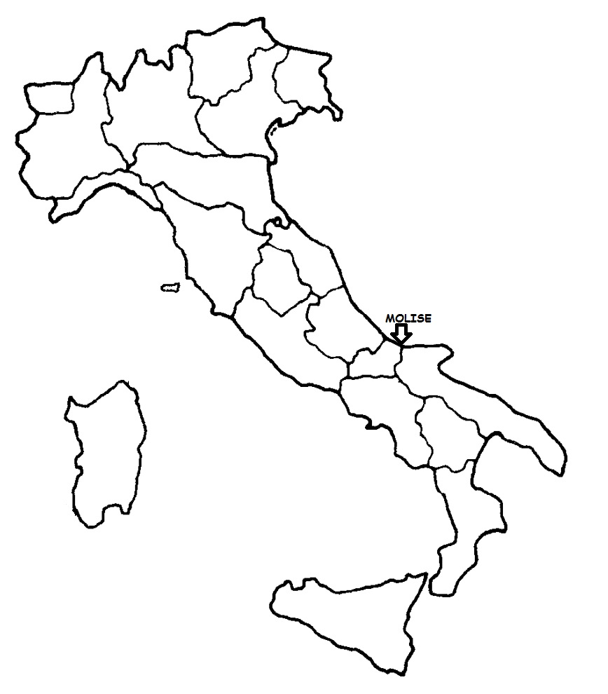 Cartina Molise Politica.Molise Cartina Politica Italia Con Singola Regione Evidenziata Blog Di Maestra Mile