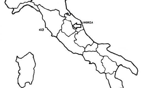 Cartina Italia Politica Umbria.Umbria Cartina Politica Italia Con Singola Regione Evidenziata Archives Blog Di Maestra Mile