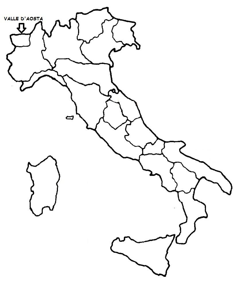 Cartina Valle D Aosta Da Colorare.Valle D Aosta Cartina Politica Italia Con Singola Regione Evidenziata Blog Di Maestra Mile