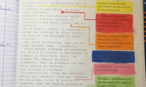 Quaderno di italiano classe 3^La punteggiatura