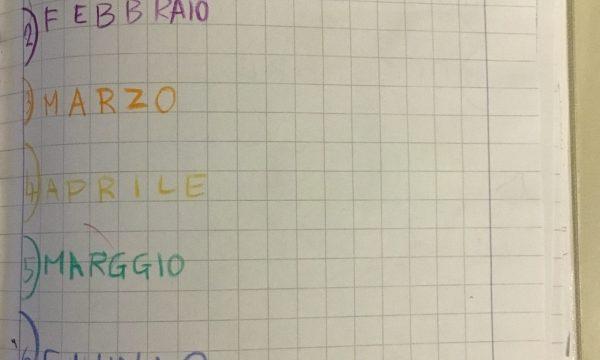 """Quaderno di storia classe 1^""""I MESI DELL'ANNO"""" (7)"""