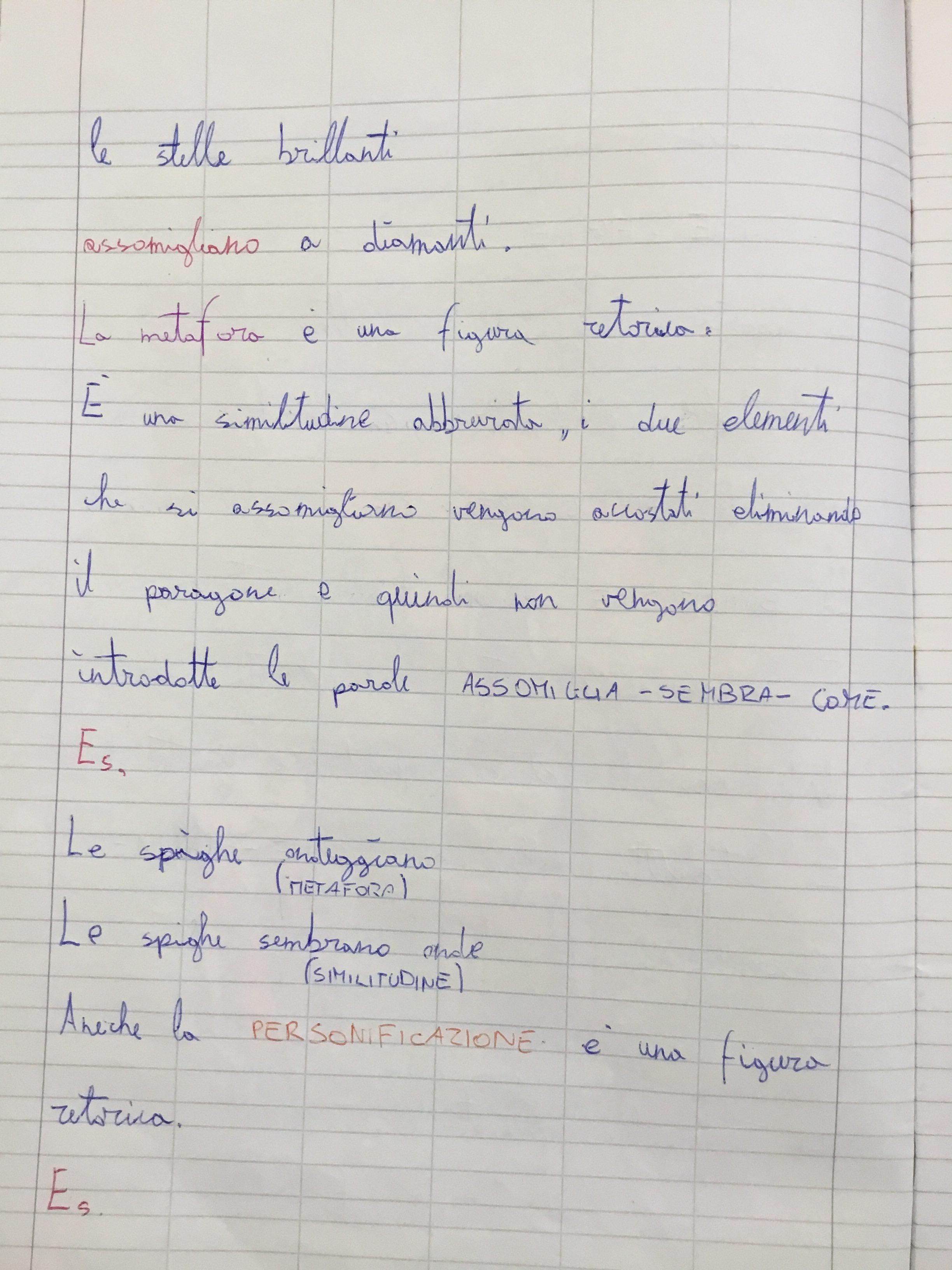 Quaderno di italiano classe 3^