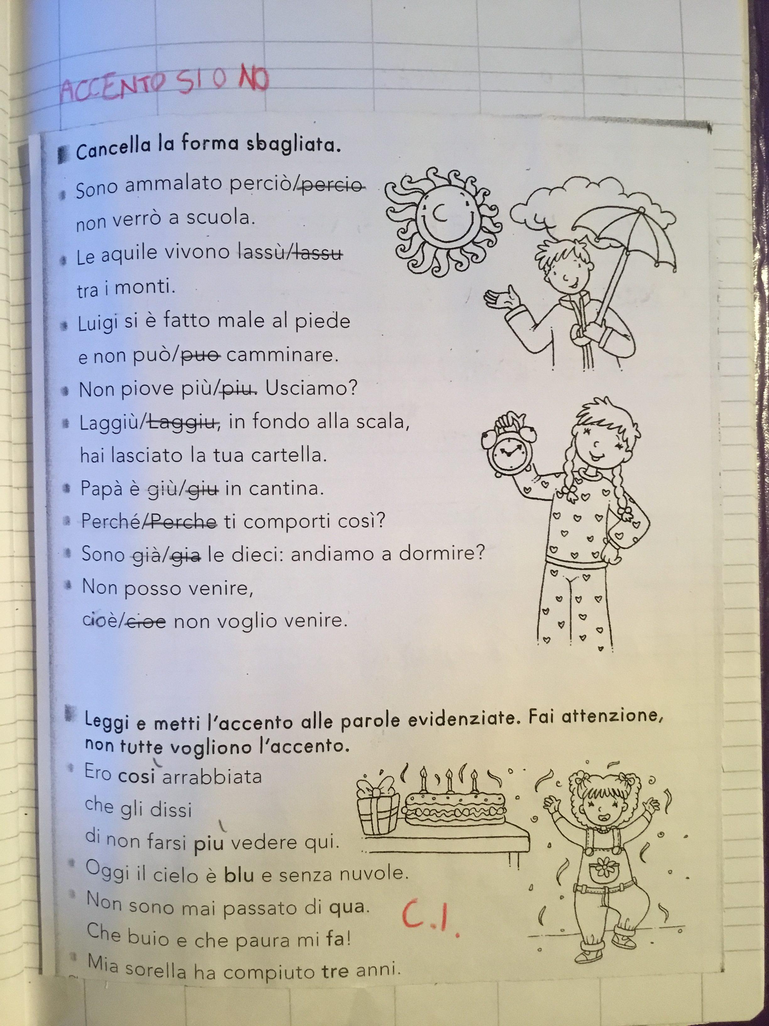 Laccento Classe Seconda Blog Di Maestra Mile