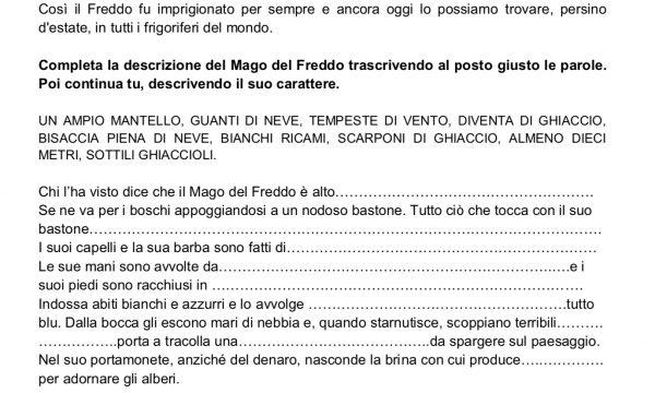 """COMPRENSIONE INVERNO """"IL MAGO DEL FREDDO"""""""
