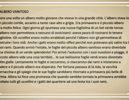 """COMPRENSIONE """"L'ALBERO VANITOSO"""""""