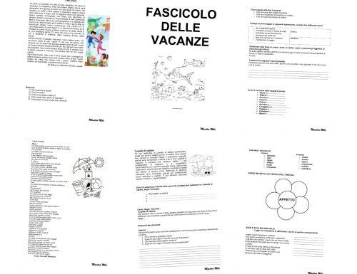 FASCICOLO DELLE VACANZE classe terza