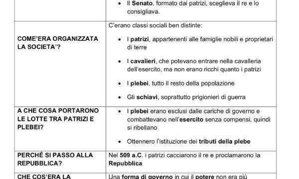 ROMA:DALLE ORIGINI ALLA REPUBBLICA (753 a.C. – 509 a.C.)