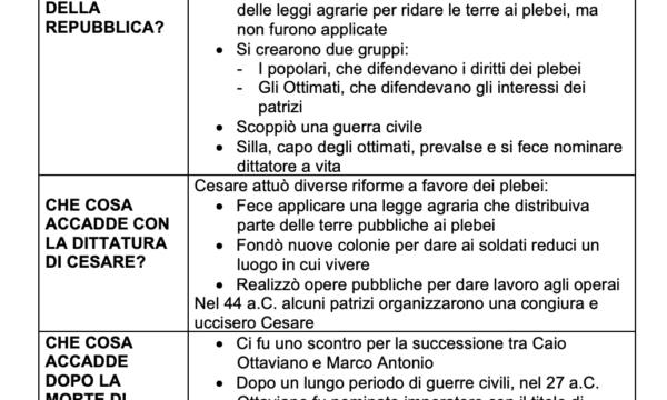 ROMA: DALLA REPUBBLICA ALL'IMPERO (509°a.C.– 27°a.C.)